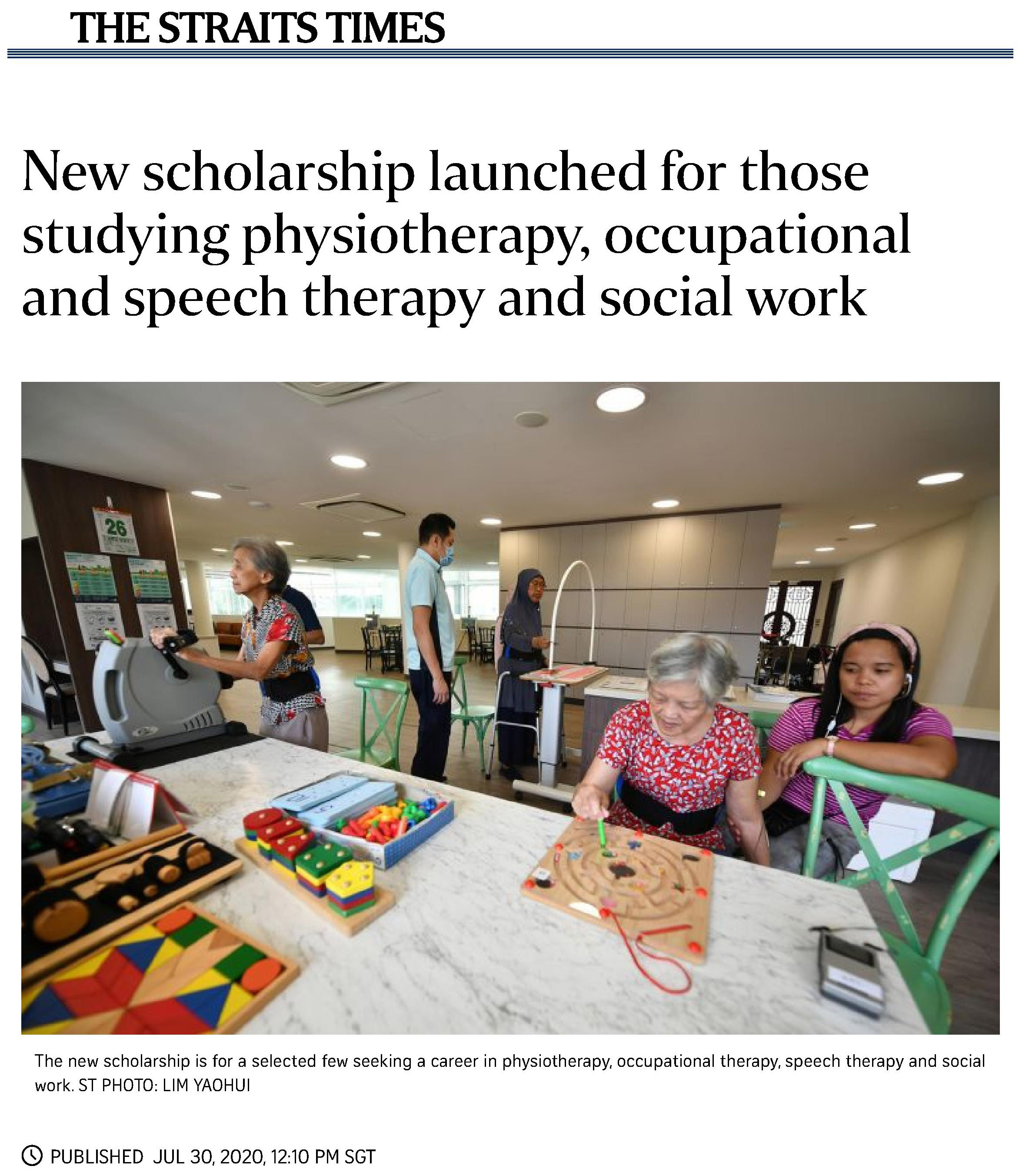 New scholarship launched for those studying physiotherapy, occupational and speech therapy and social work_1.jpg
